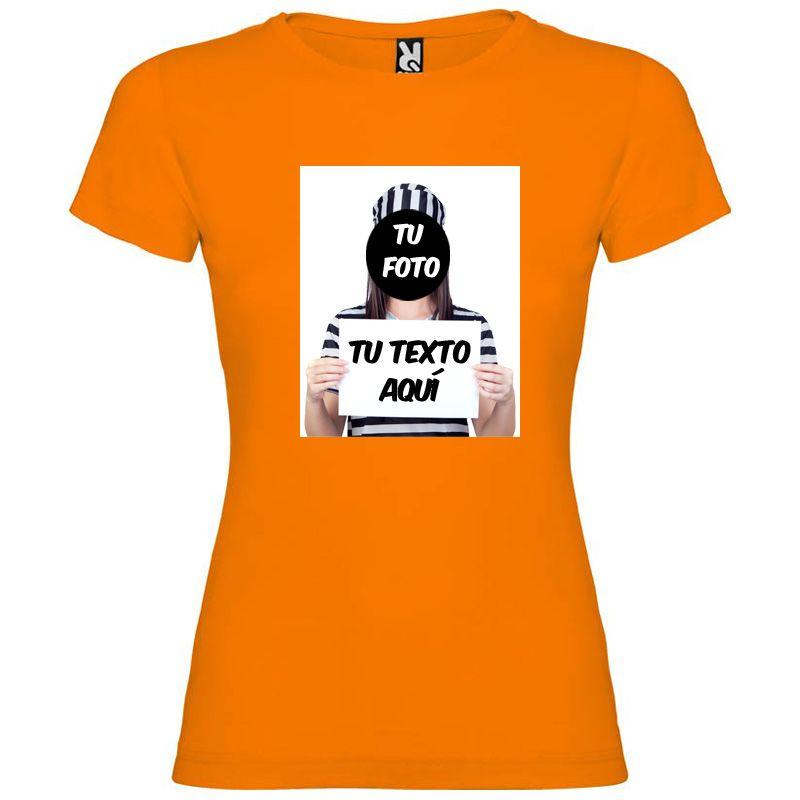 Camisetas despedida mujer para fiestas de despedida con diseño de fugitiva 100% algodón vista 1