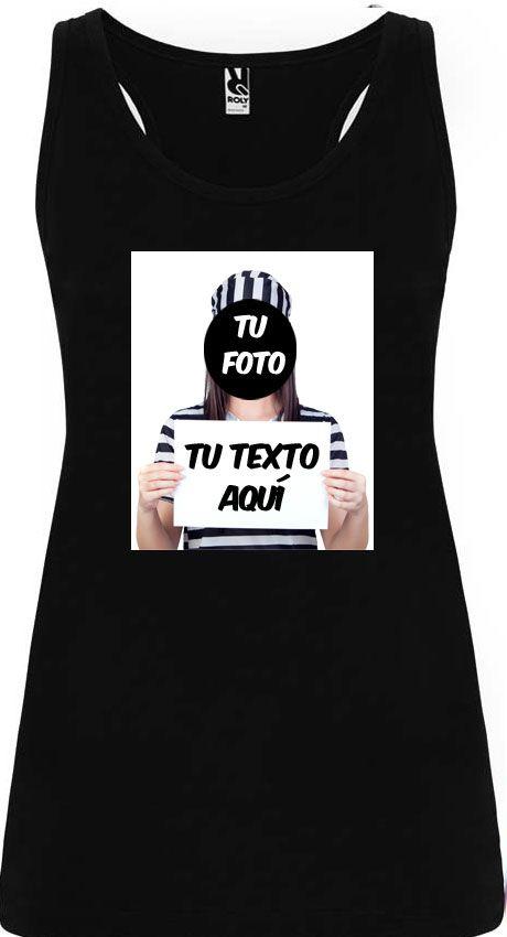 Camisetas despedida mujer de tirantes de despedida para mujer en color diseño fugitiva 100% algodón vista 1