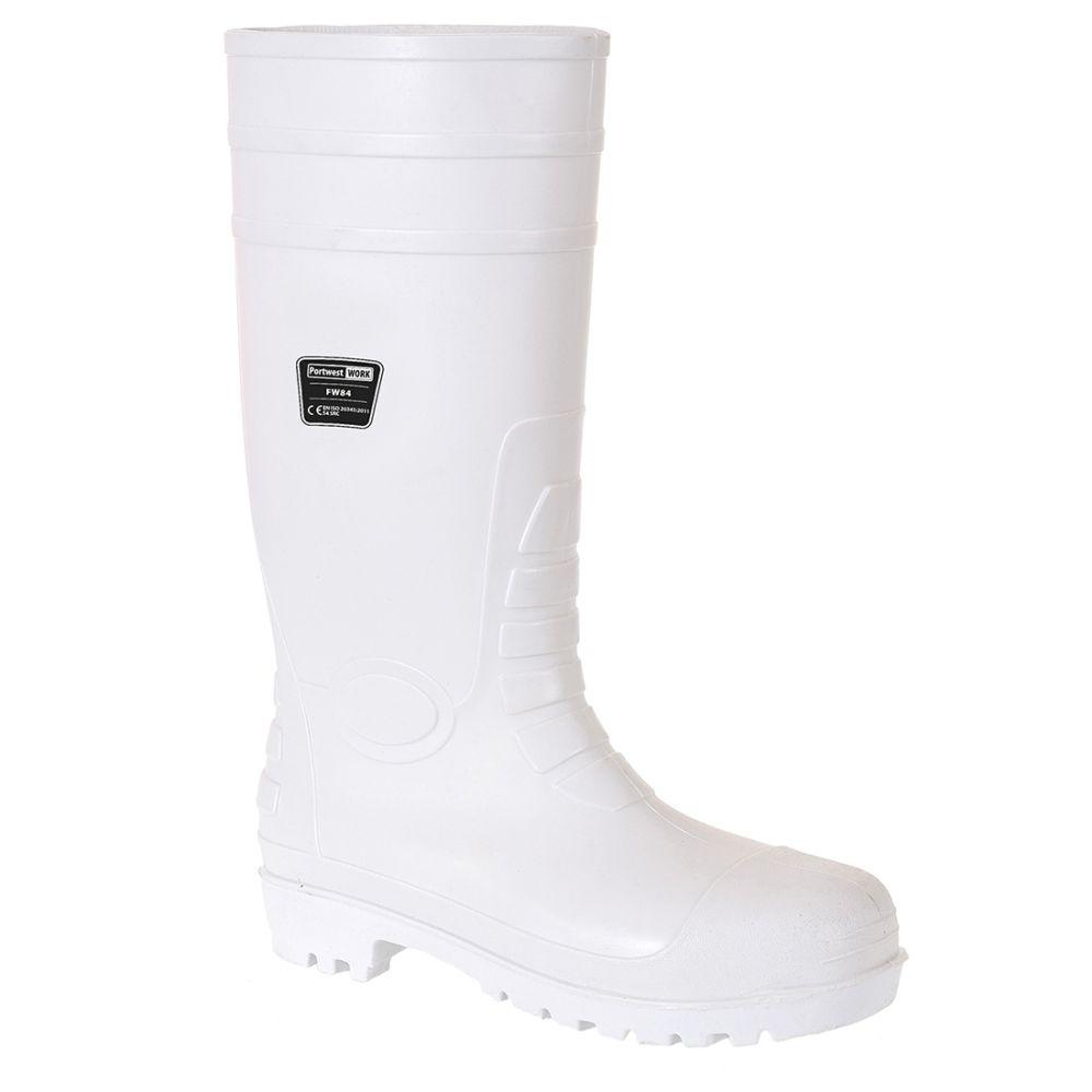 Zapatos de trabajo bota wellinton safety food s4 con logo vista 1