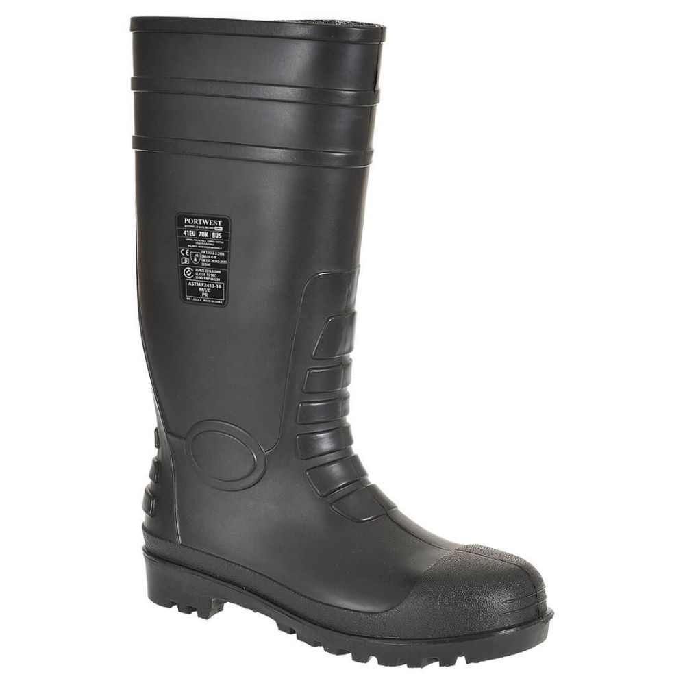 Zapatos de trabajo bota wellington total safety s5 vista 1