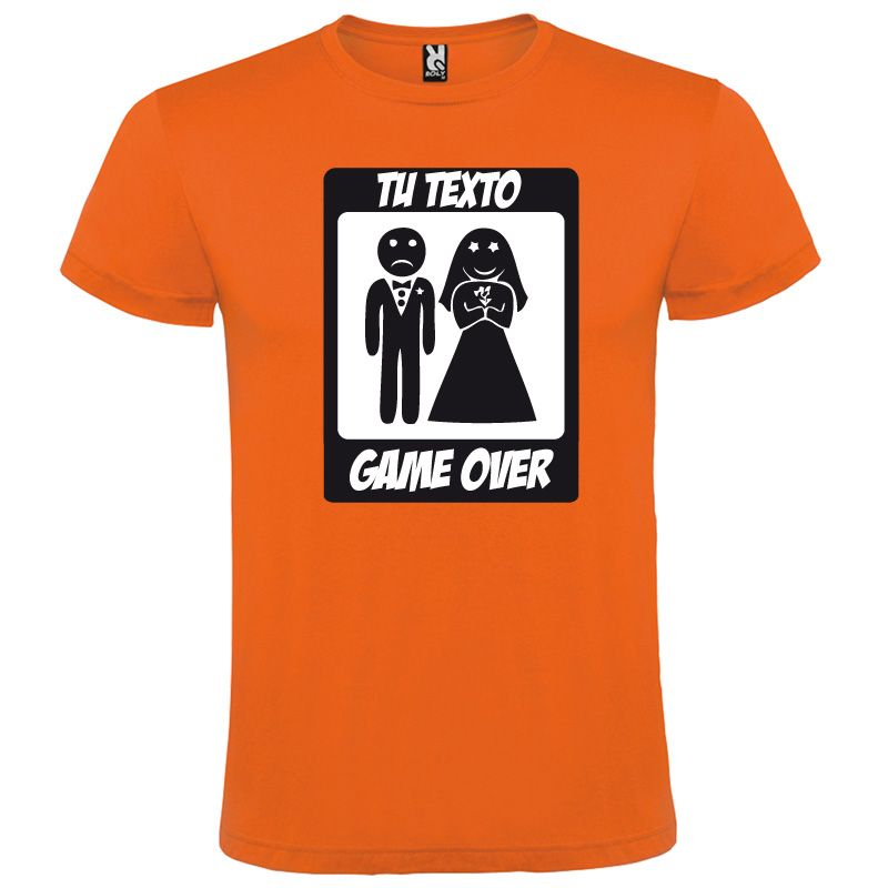 Camisetas despedida hombre manga corta game over 100% algodón imagen 1