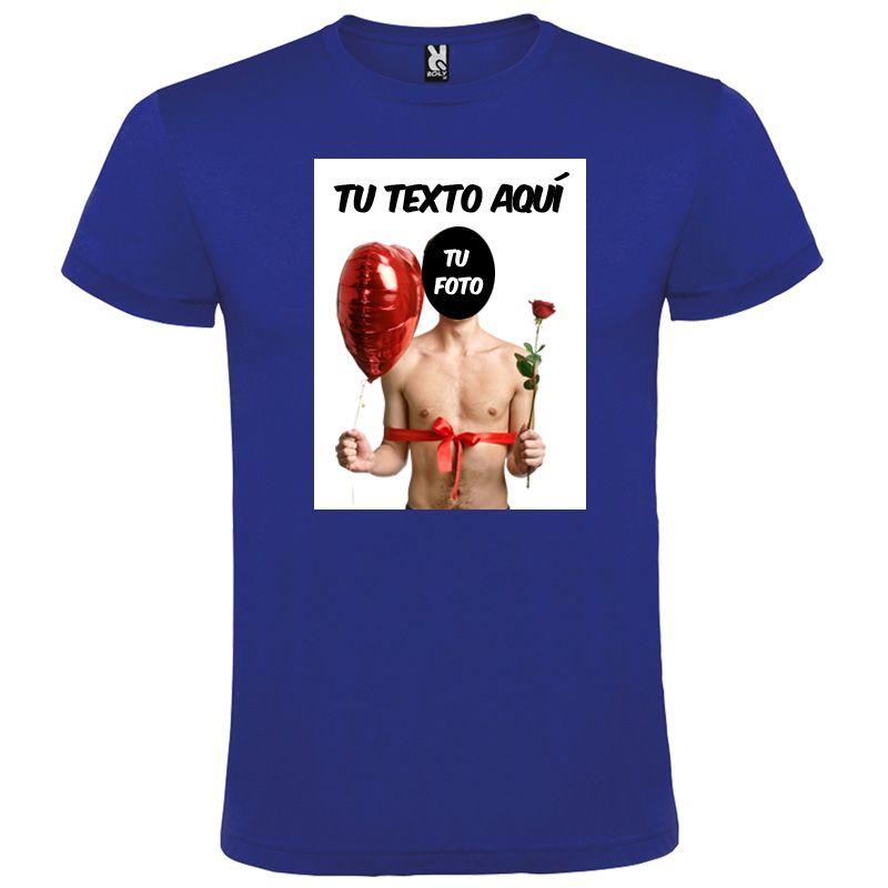 Camisetas despedida hombre para despedidas con diseño de globo y flor 100% algodón para personalizar vista 1