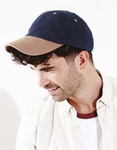 Gorra de perfil bajo de algodón grueso peinado - Seis paneles