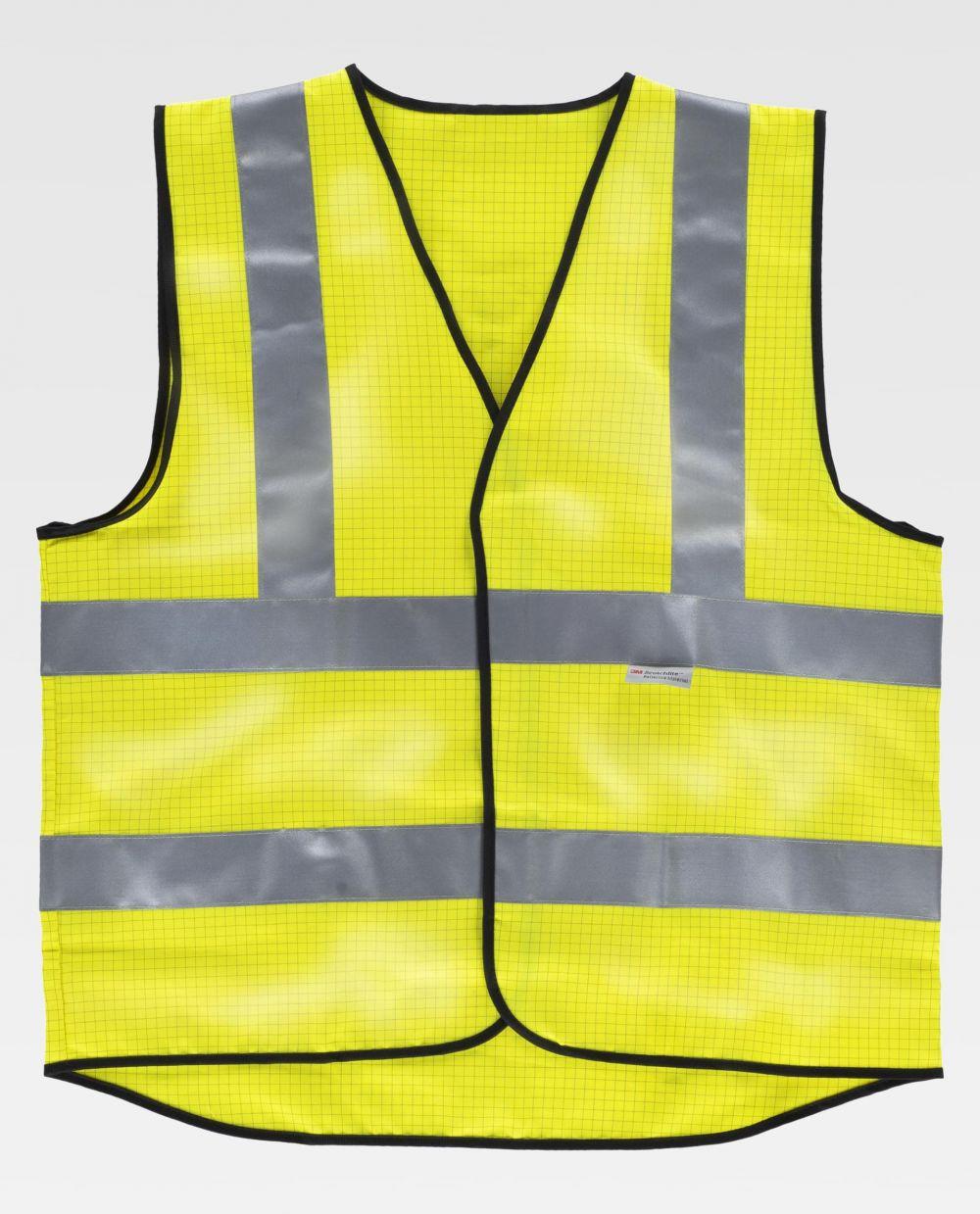 Chalecos reflectantes personalizados workteam hvtt20 de algodon vista 2