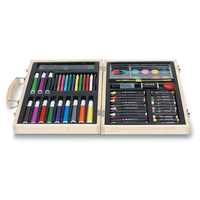 Pinturas colorear genio de madera con impresión imagen 1