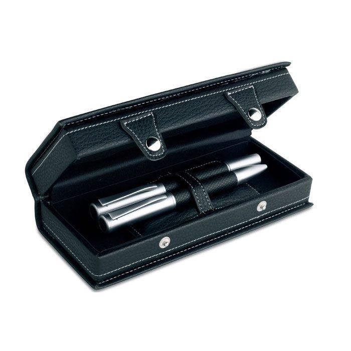 Bodas grando set de bolígrafo y pluma de metal con impresión imagen 2