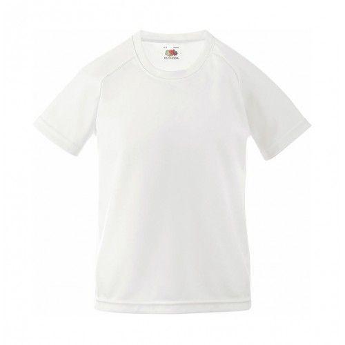 Camisetas técnicas fruit of the loom técnica performance niño con impresión vista 1