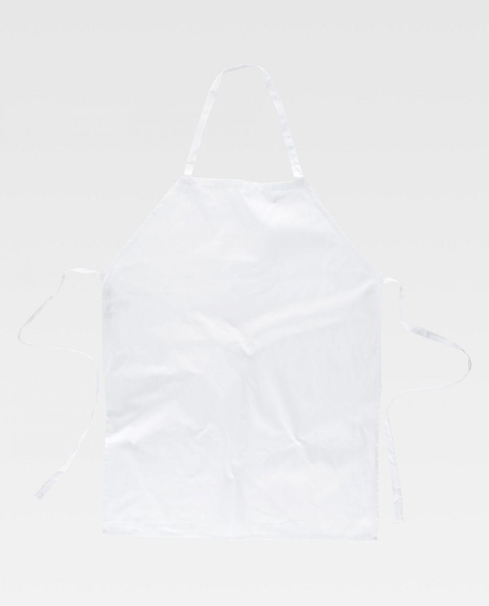 Delantales de hostelería workteam m305 de 100% algodón para personalizar vista 2
