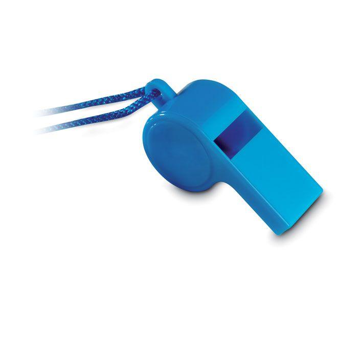 Bocinas y silbatos referee silbato con cordón seguridad de plástico con publicidad vista 2