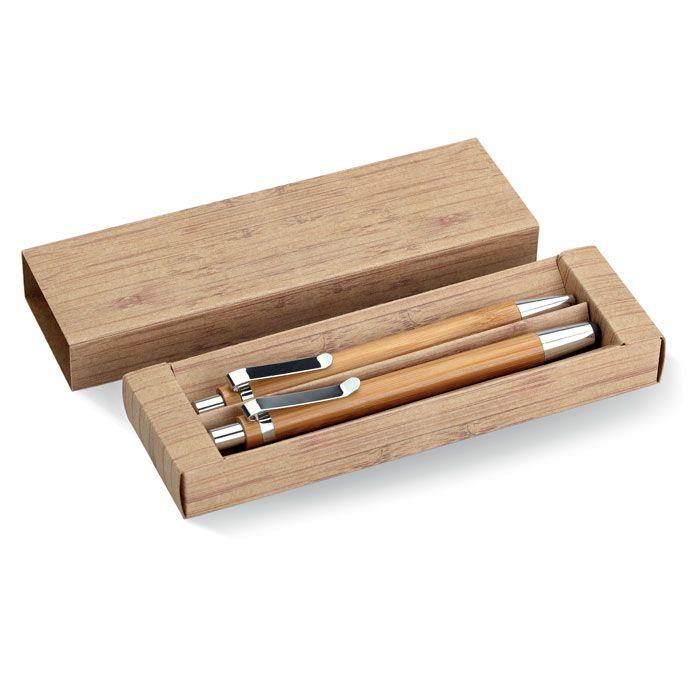 Set escritura bambooset de bambú ecológico imagen 1