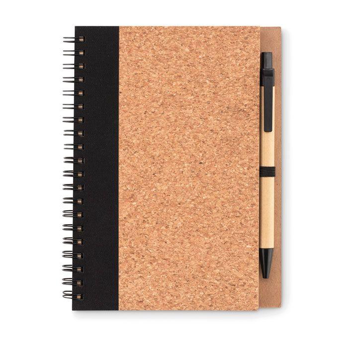 SONORA PLUSCORK Libreta con bolígrafo tapa corc