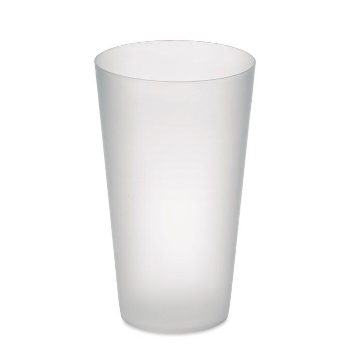 Vasos para llevar festa de plástico con publicidad vista 1