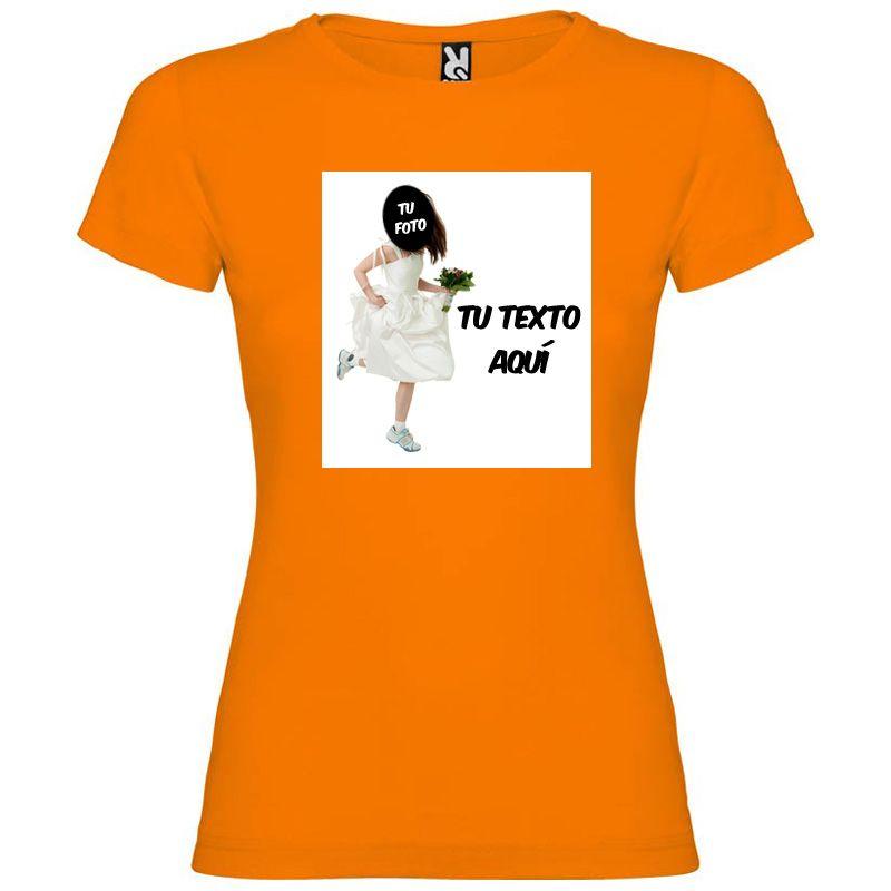 Camisetas despedida mujer de despedida de soltera novia a la fuga con tu foto 100% algodón vista 1