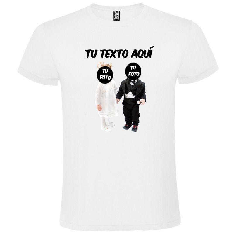 Camisetas despedida hombre blanca de despedida en manga corta con diseño de n 100% algodón para personalizar vista 1