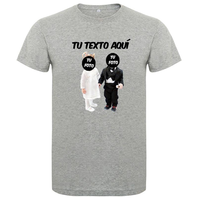Camisetas despedida hombre con diseño de novios bebés sin fondo 100% algodón vista 1