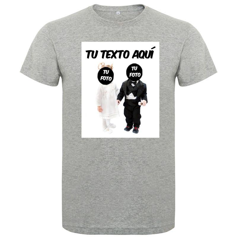 Camisetas despedida hombre de despedida en manga corta con diseño de novios bebes 100% algodón con impresión vista 1