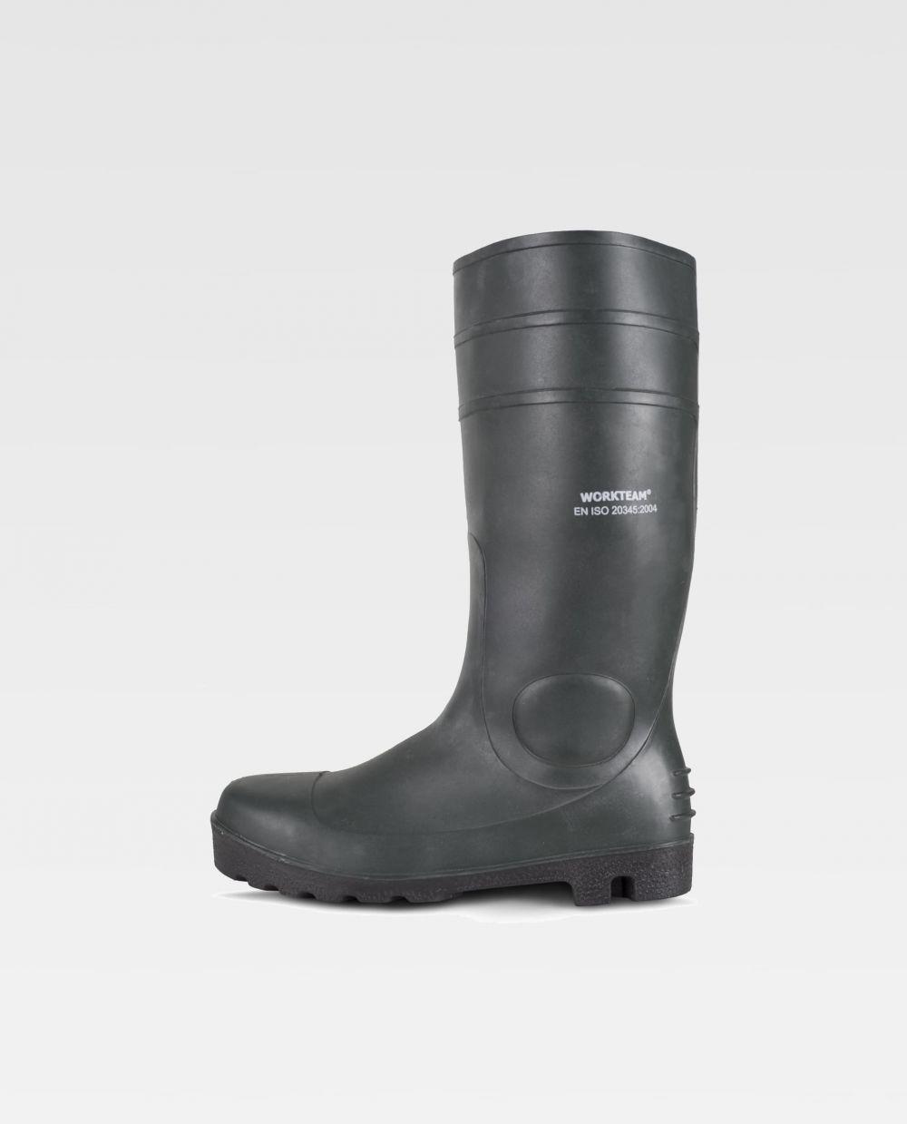 Zapatos de trabajo workteam bota p2201 de nitrilo pvc para personalizar vista 1