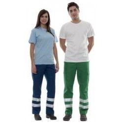 Pantalones de trabajo valento drill de poliéster con publicidad vista 1