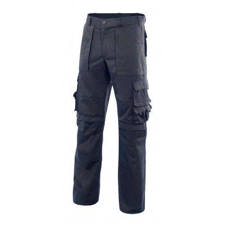 Pantalones de trabajo multibolsillos con refuerzo de tejido con impresión vista 1