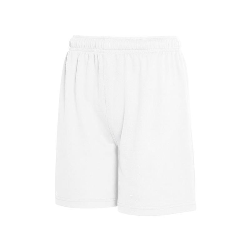 Pantalones técnicos fruit of the loom corto performance niño con publicidad vista 1