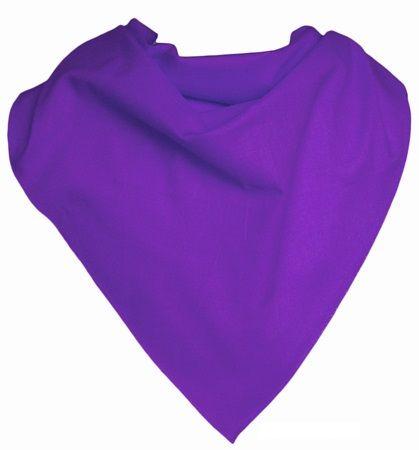 Pañuelos lisos triangular popelín 70x100 de algodon con publicidad vista 1