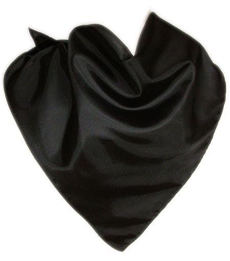 Pañuelos lisos triangular de algodón 57x80 de 100% algodón con impresión vista 1