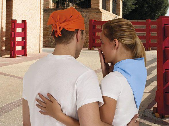 Pañuelos lisos valento bandana de poliéster con publicidad vista 1