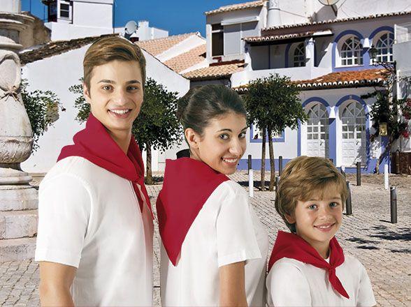 Pañuelos lisos valento gala de algodon con publicidad imagen 1