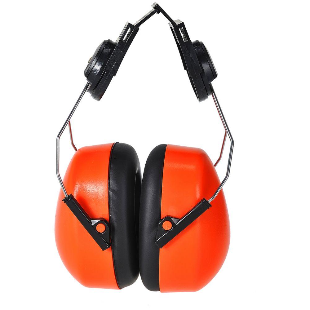 Protectores auditivos auditivo endurance clip on de alta visibilidad con impresión vista 1