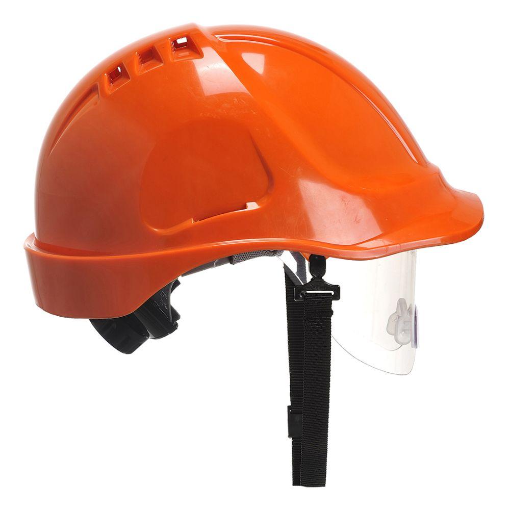 Pis casco endurance con visor con impresión vista 1
