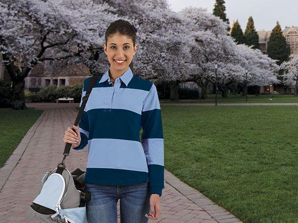 Polos manga larga valento kick de algodon con publicidad imagen 1