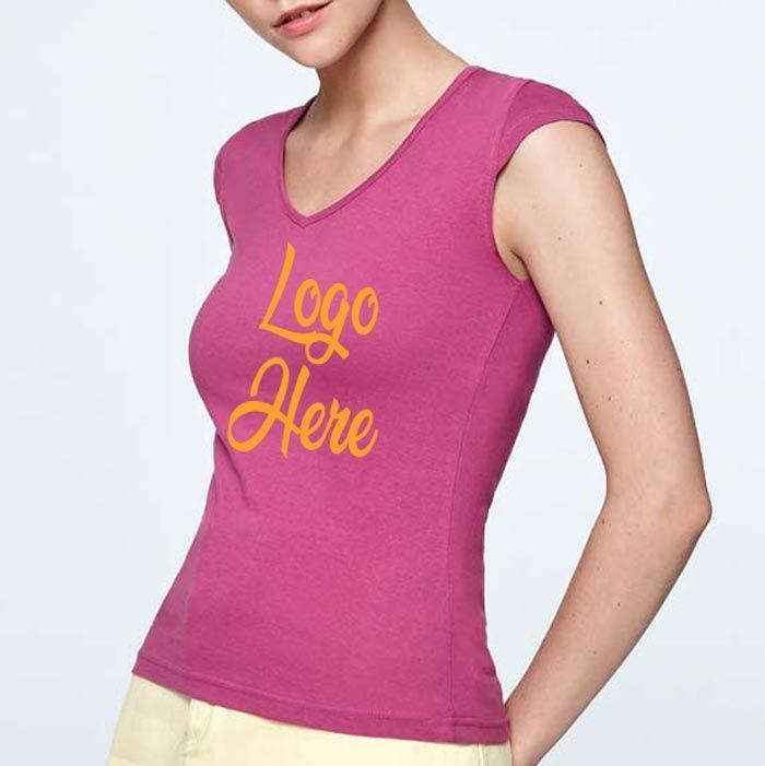 Camisetas manga corta roly martinica mujer de 100% algodón con publicidad vista 2