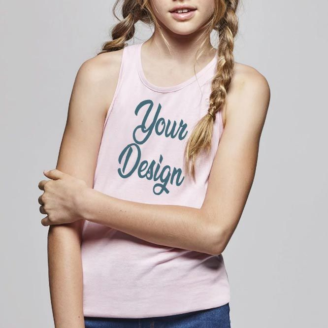 Camisetas tirantes roly brenda mujer niño de 100% algodón imagen 1