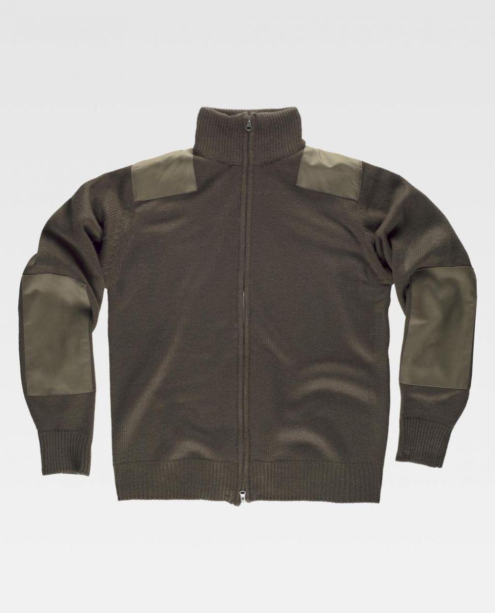 Chaquetas y cazadoras de trabajo workteam chaqueta cuello alto punto grueso de acrílico con impresión vista 1