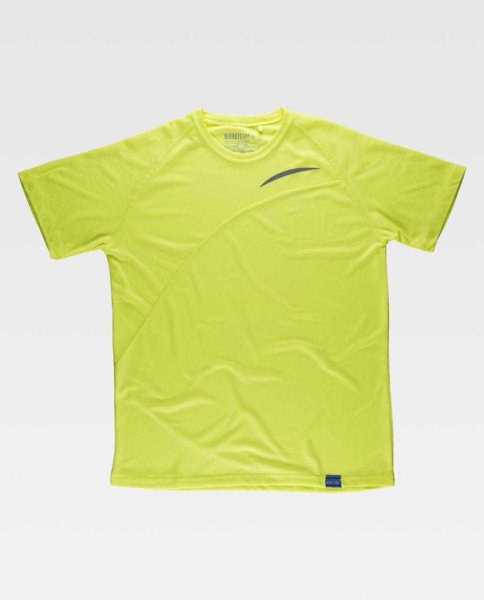 Camisetas de trabajo workteam s6610 de poliéster vista 2