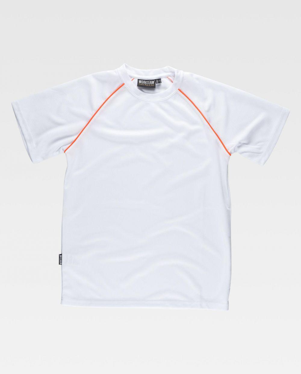Camisetas de trabajo workteam s6640 de poliéster con impresión vista 2