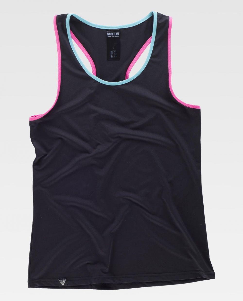 Fitness workteam camiseta deportiva s7520 de algodon vista 2