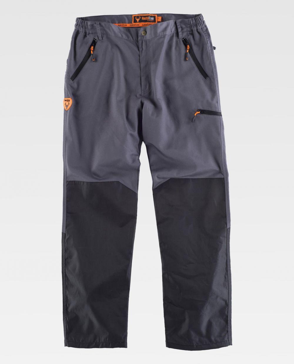 Pantalones de trabajo workteam s8335 de poliéster con logo vista 2