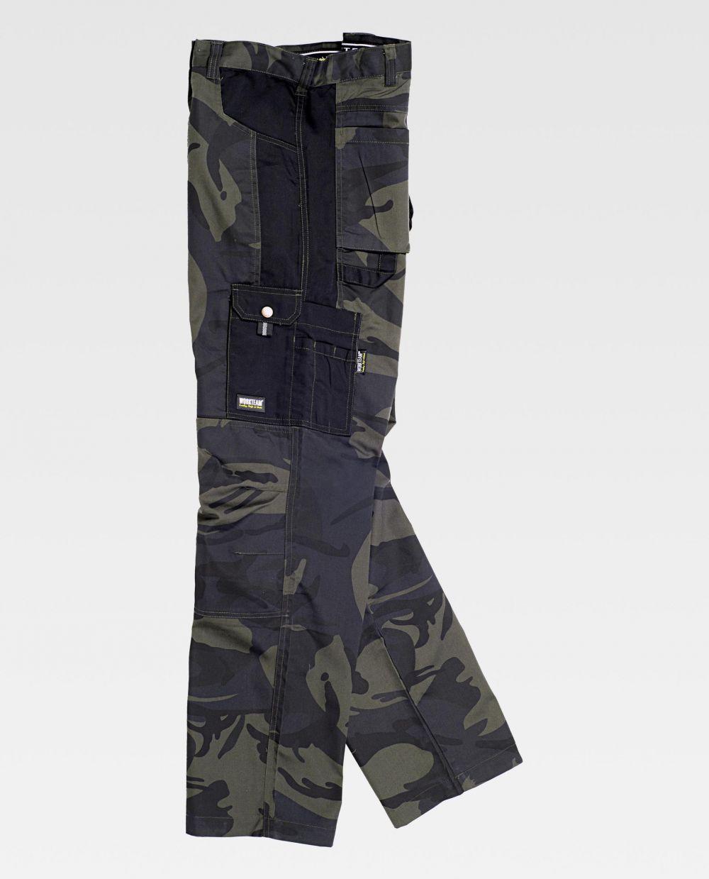 Pantalones de trabajo workteam s8515 de poliéster vista 2