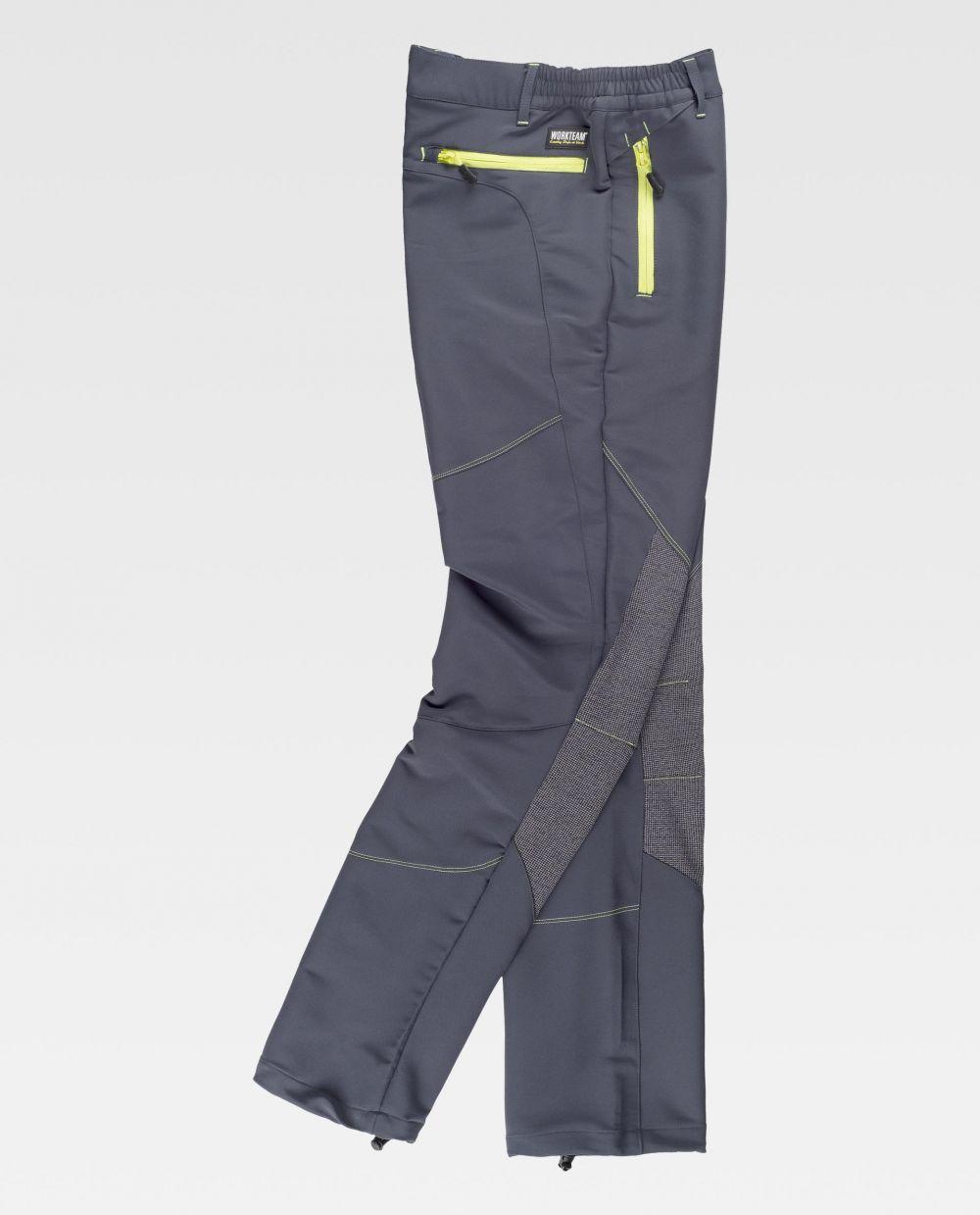 Pantalones de trabajo workteam s9855 de poliéster con impresión vista 2