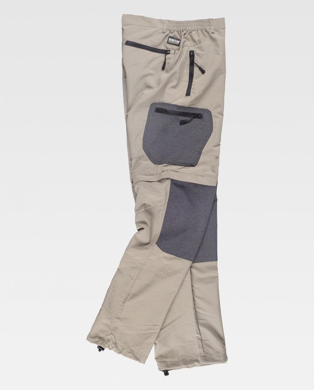 Pantalones de trabajo workteam s9870 de 100% algodón con impresión vista 2