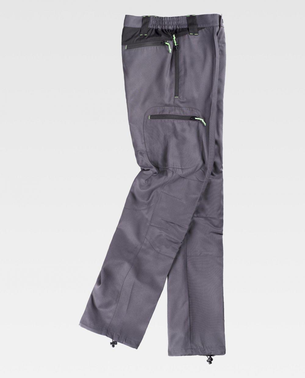 Pantalones de trabajo workteam s9880 de poliéster vista 2