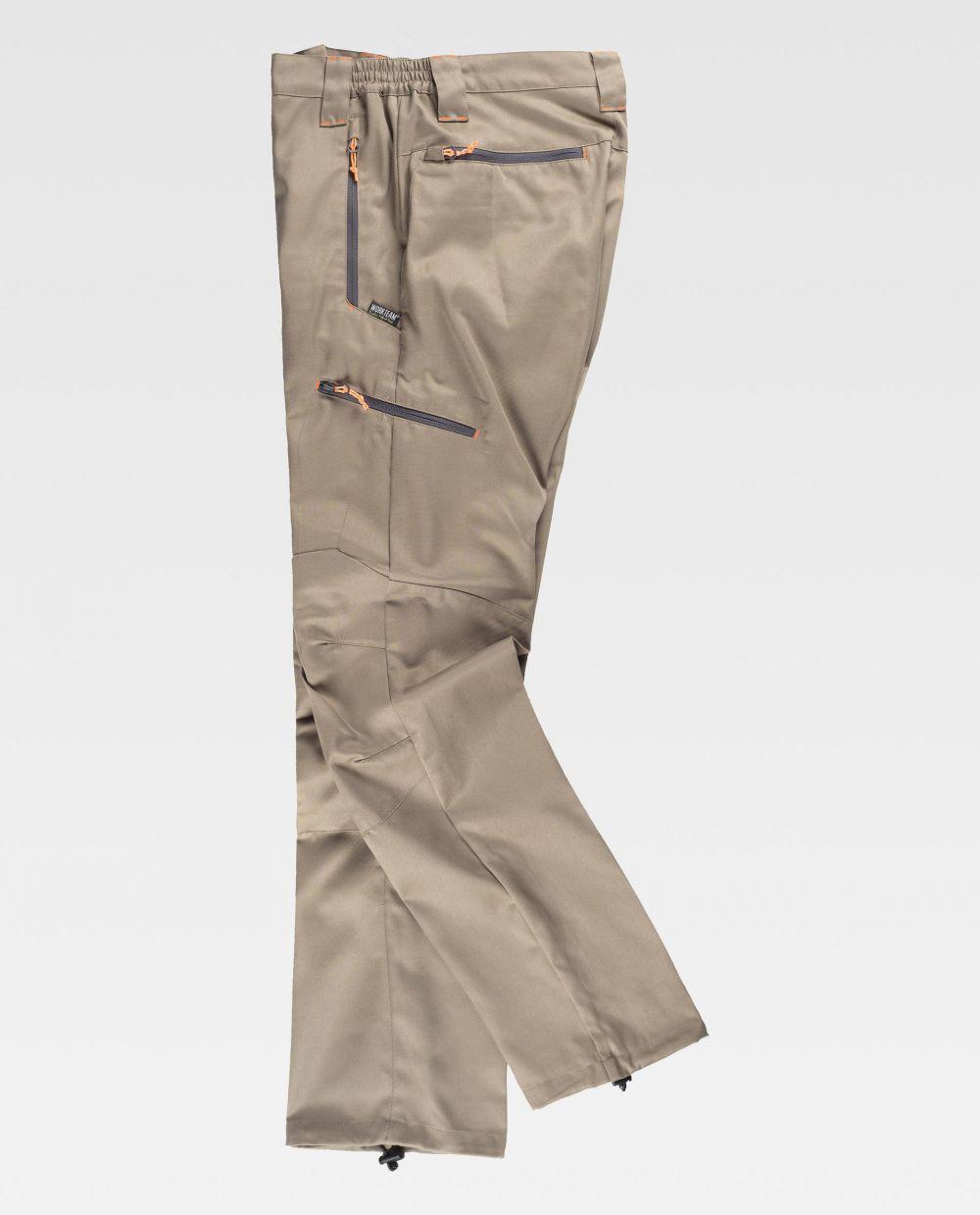 Pantalones de trabajo workteam s9885 de poliéster con impresión vista 2