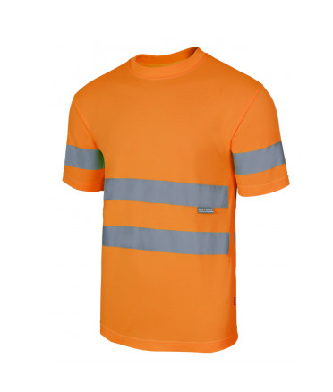 Camisetas reflectantes técnica alta visibilidad para personalizar vista 1