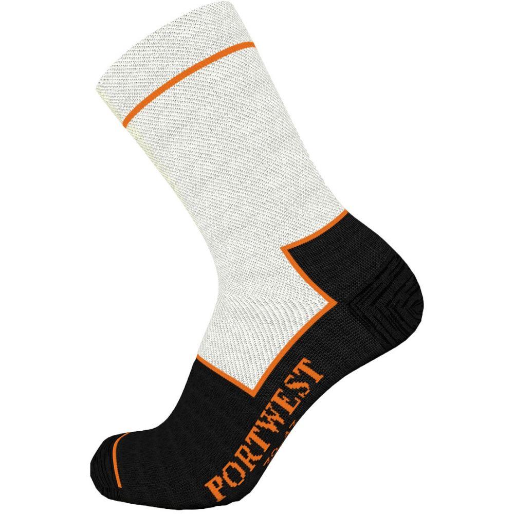 Complementos de industria calcetín resistente a cortes con logo vista 1