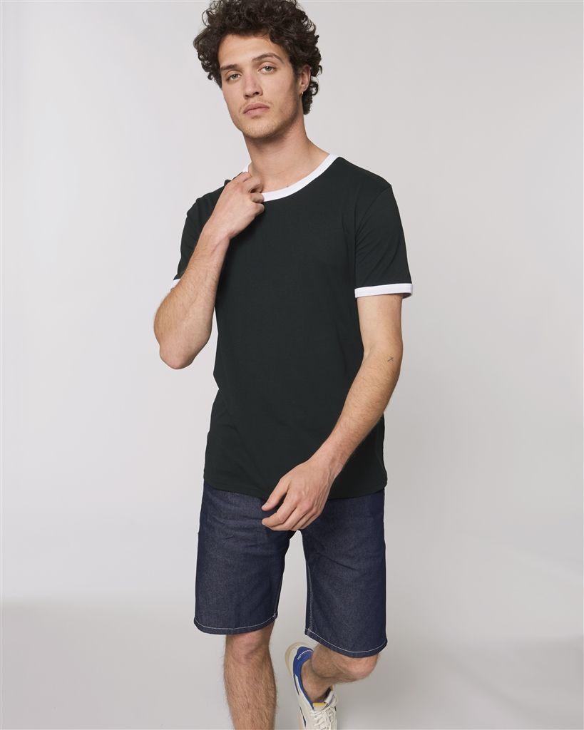 Camisetas manga corta stanley stella ringer ecológico con publicidad vista 1