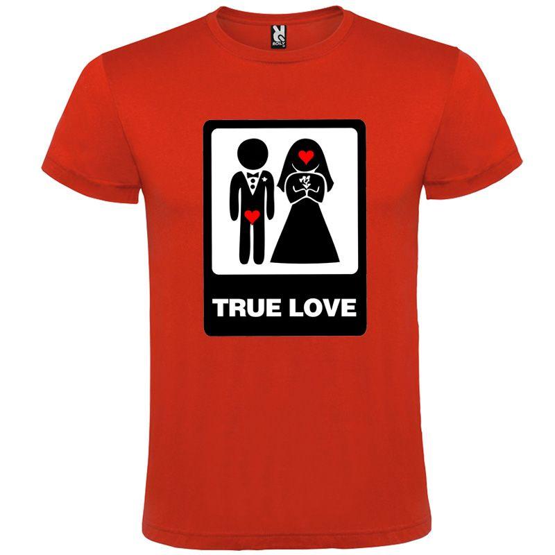 Camisetas despedida hombre de despedidas unisex con dibujo true love 100% algodón vista 1