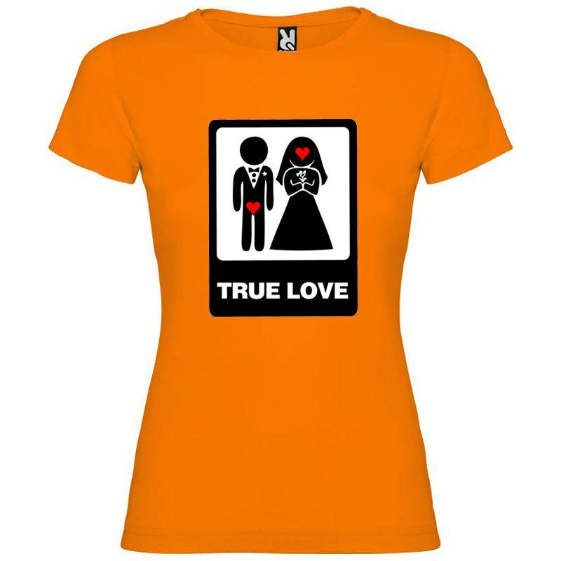 Camisetas despedida mujer para mujer con diseño true love especial 100% algodón vista 1