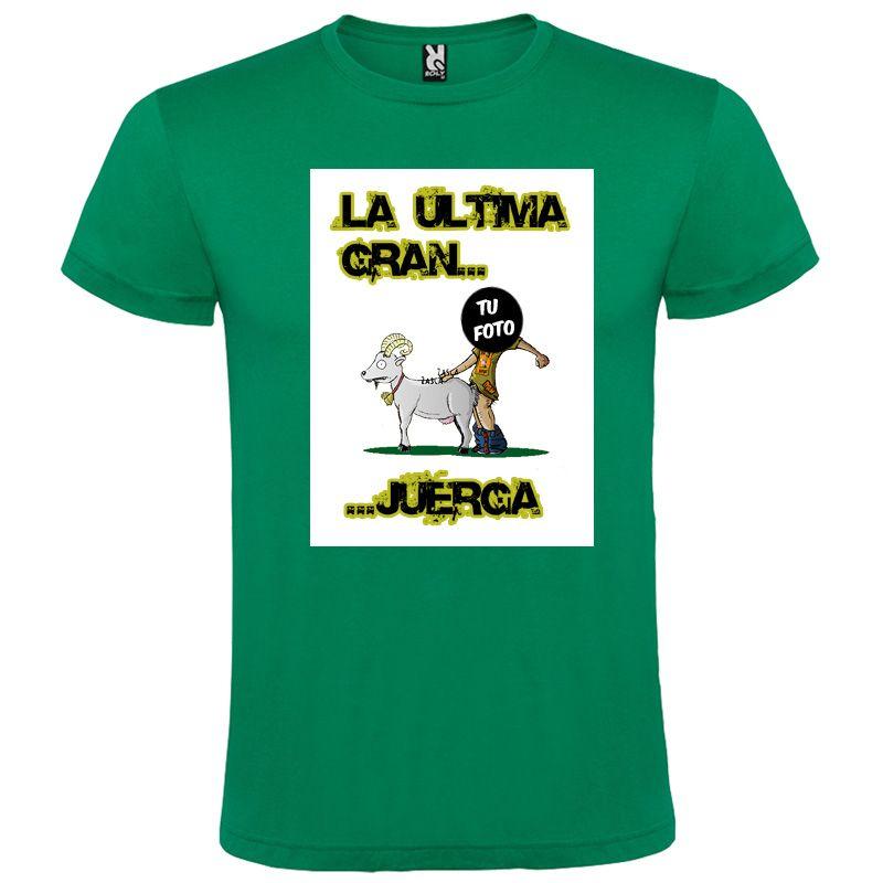 Camisetas despedida hombre lema la última gran juerga 100% algodón vista 1