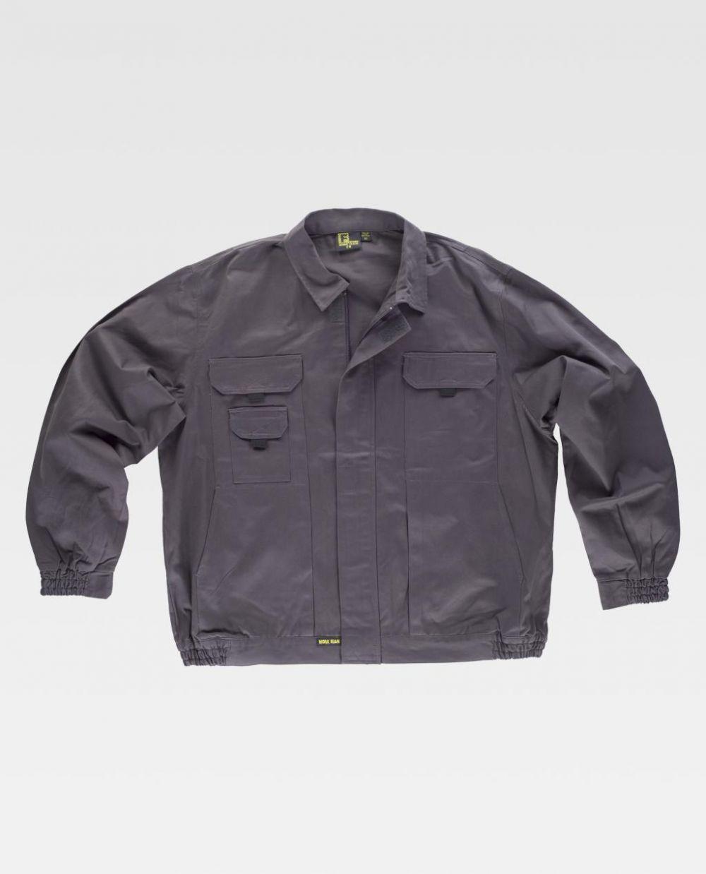 Chaquetas de trabajo workteam cazadora algodon cuello camisero de 100% algodón vista 1